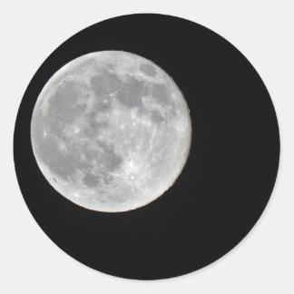 High resolution Full Moon Photo Classic Round Sticker