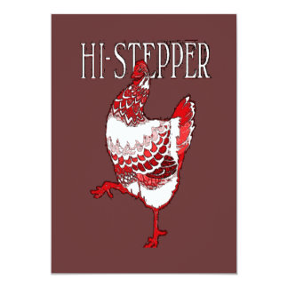 High Stepper Chicken Card