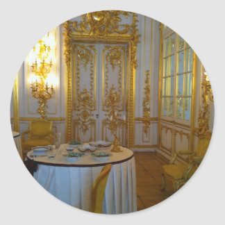 High Tea at the Hermitage Classic Round Sticker