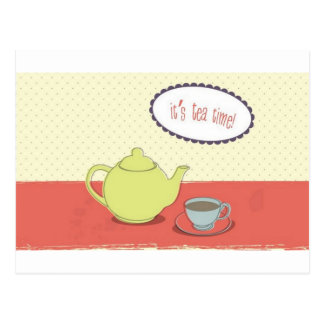 High tea design postcard