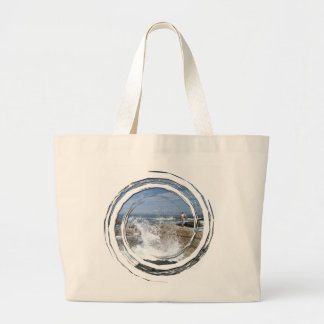 High Tide Fishing Large Tote Bag