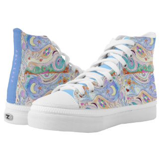 High Top Shoes - Driftwood Art Design / with Print