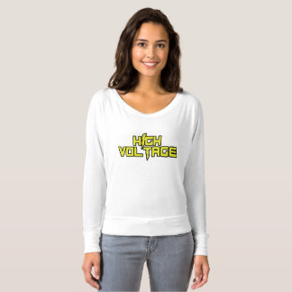 High Voltage Long Sleeve V-Neck Shirt (White)