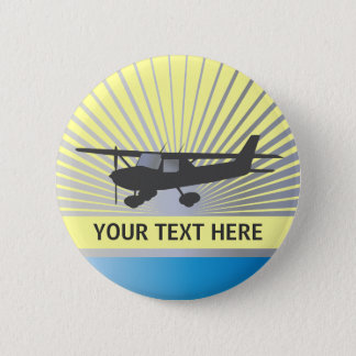 High Wing Aircraft 6 Cm Round Badge