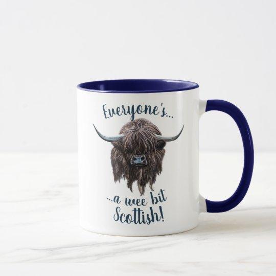Highland Cow, A Wee Bit Scottish! Mug