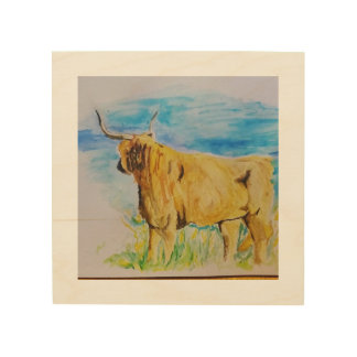 Highland Cow Wood Canvases
