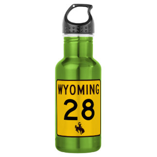 Highway 28, Wyoming, USA 532 Ml Water Bottle
