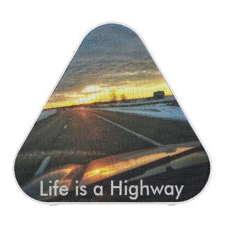 Highway Sunset Bluetooth Speaker
