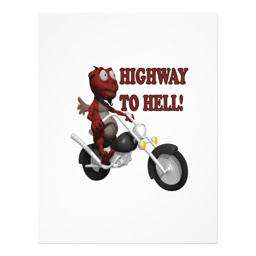Highway To Hell Personalized Flyer
