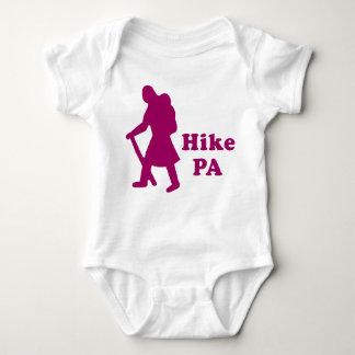 Hike PA Girl - Dark Pink Baby Bodysuit