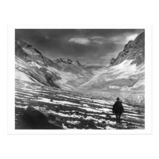 Hiker in the Aconcagua Valley in Chili Photograp Postcard