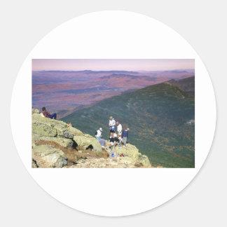 Hikers on Mt Lafayette, NH.jpg Classic Round Sticker