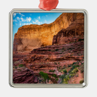 Hiking Coyote Gulch - Utah Silver-Colored Square Decoration