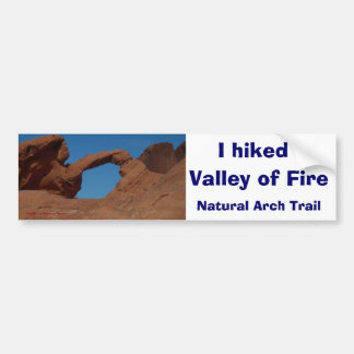 Hiking Valley of Fire Bumper Sticker