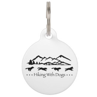 Hiking With Dogs ID Tag-Husky Pet Tag