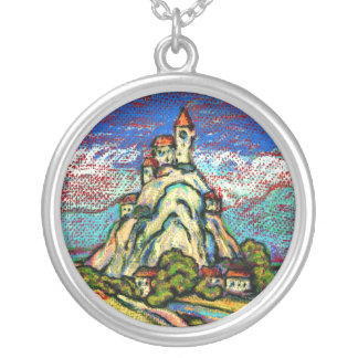 Hill Castle Fantasy Silver Plated Necklace