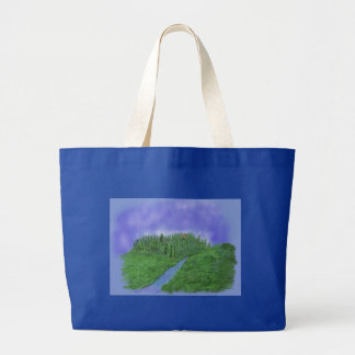 Hill & stream large tote bag