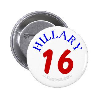 Hillary 16 Good Luck Button by Grassrootsdesigns4u