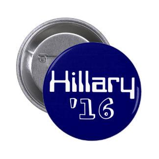 Hillary '16 pinback button