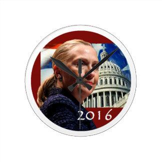 Hillary 2016 round clock