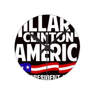 Hillary Clinton Round Clock