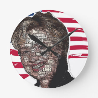 Hillary Email Scam Image Round Clock
