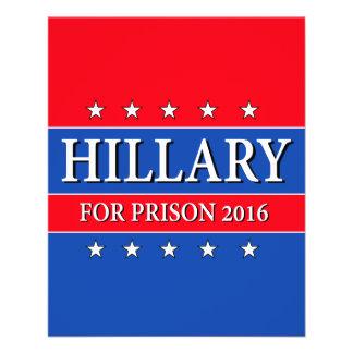 """HILLARY FOR PRISON 2016"" 11.5 CM X 14 CM FLYER"