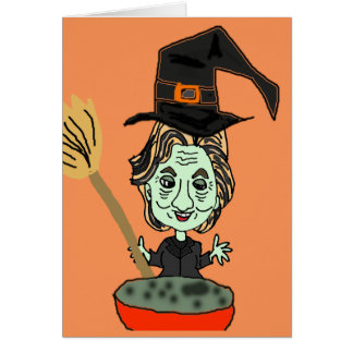 Hillary the Email Witch Card