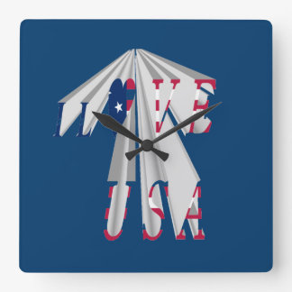 Hillary USA for President we are stronger together Square Wall Clock