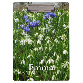 Hillside of Early Spring Flowers Landscape Clipboard