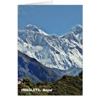 HIMALAYA - One of 1000 views from NEPAL Greeting Cards