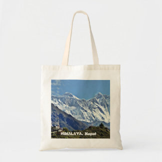 HIMALAYA - One of 1000 views from NEPAL Tote Bags