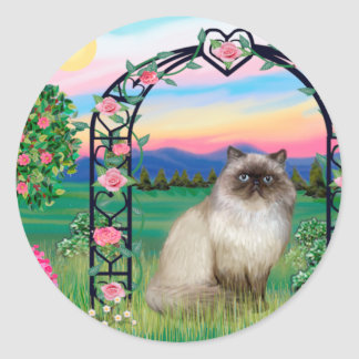 Himalayan Cat - Rose Arbor Classic Round Sticker