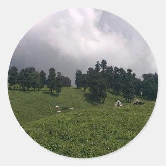 Himalayan Meadows Classic Round Sticker