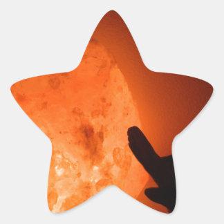 Himilayan Salt Lamp with Bird Star Sticker