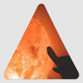 Himilayan Salt Lamp with Bird Triangle Sticker