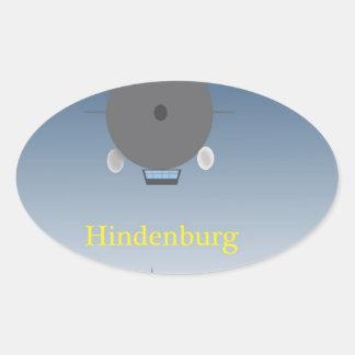 Hindenburg Oval Sticker
