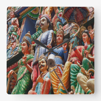 Hindu Temple gopuram, Singapore Square Wall Clock