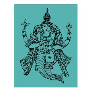 Hinduism: Vishnu Postcard