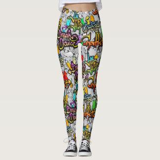 Hip Hop Graffiti Pattern Leggings