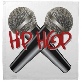 Hip Hop - mc rap dj rap turntable mic graffiti r&b Napkin