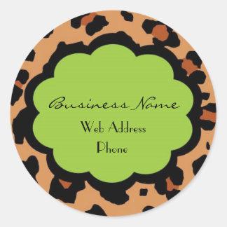 Hip Lepord Business Sticker - Customizable