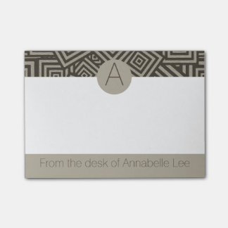 Hip to be Square Monogram Post-it® Notes