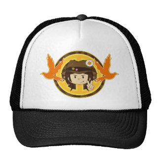Hippie Boy & Doves Trucker Hat