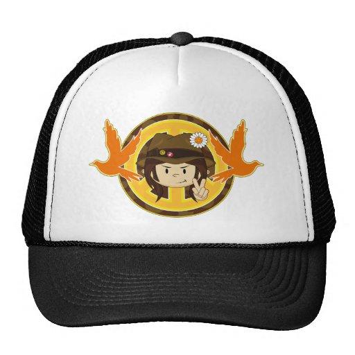 Hippie Boy & Doves Mesh Hat