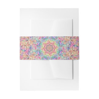Hippie Kaleidoscope  Invitation Belly Bands Invitation Belly Band