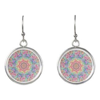 Hippie Pattern Drop Earrings