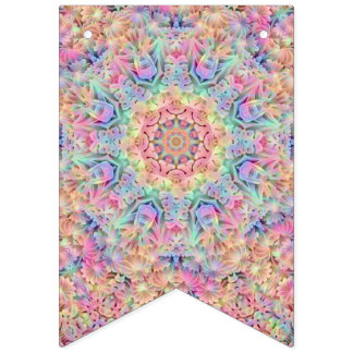 Hippie Pattern   Party Bunting Banners, 2 shapes Bunting