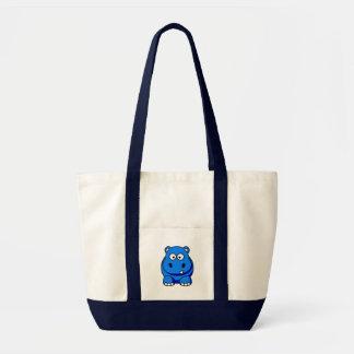 Hippo Blue Tote Bag