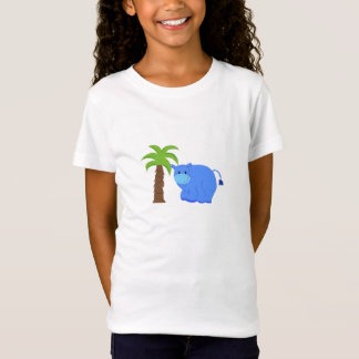 Hippo By A Palm Tree T-Shirt